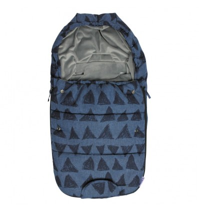 Saco pequeño polar azul triángulos