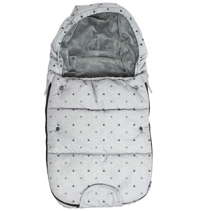 Small polar footmuff crowns grey