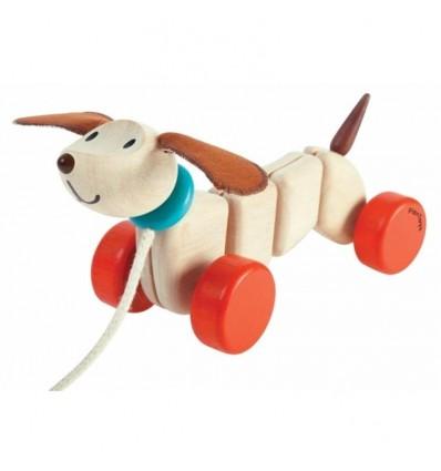 juguete de arrastrar cachorro feliz